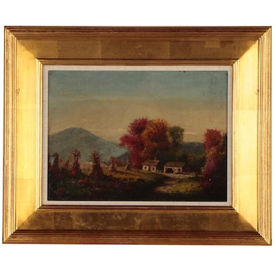 White Mountain Landscape Oil Painting