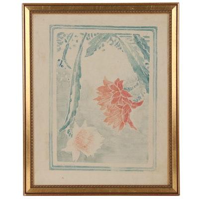 Eliza D. Gardiner Floral Stencil Painting