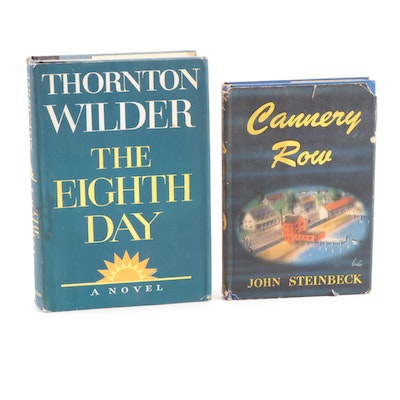 "First Trade Edition ""The Eighth Day"" by Wilder with ""Cannery Row"" by Steinbeck"
