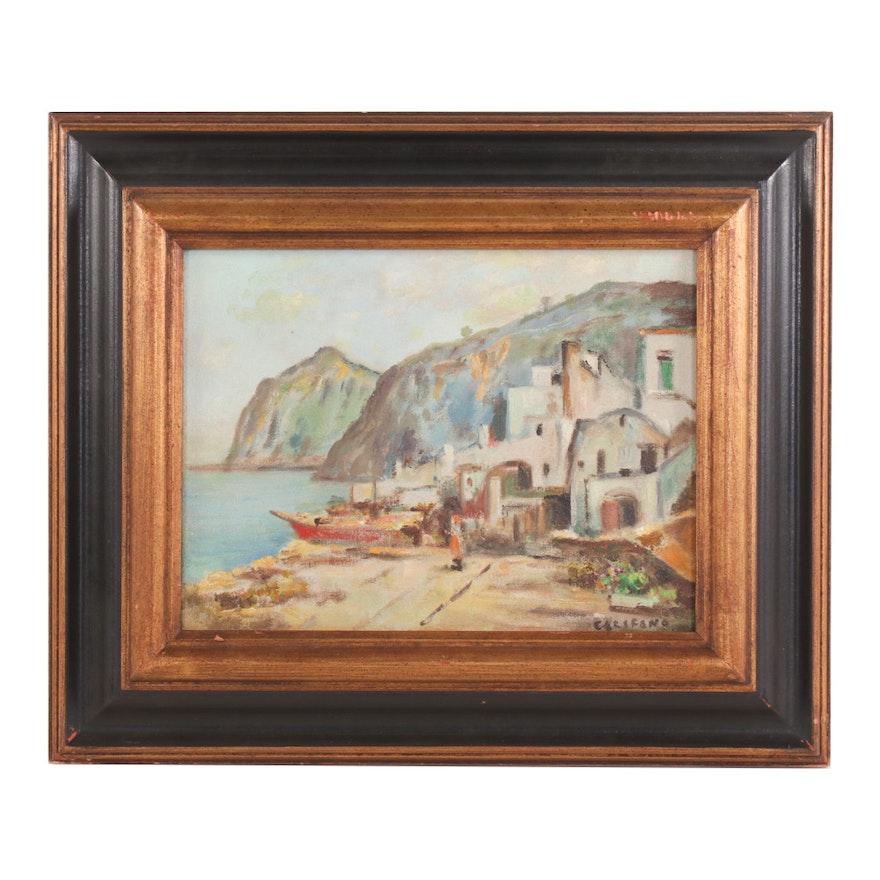 John Califano Coastal Landscape Oil Painting