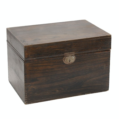 Sargent Wood Cigar Chest with Marbleized Interior, Early 20th Century