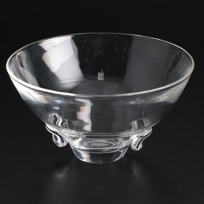 "Steuben Art Glass ""Talisman"" Bowl Designed by David Hills, Mid-Century"