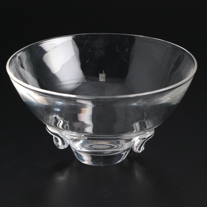 "Steuben Art Glass ""Talisman"" Bowl Designed by David Hills, Mid-Century"