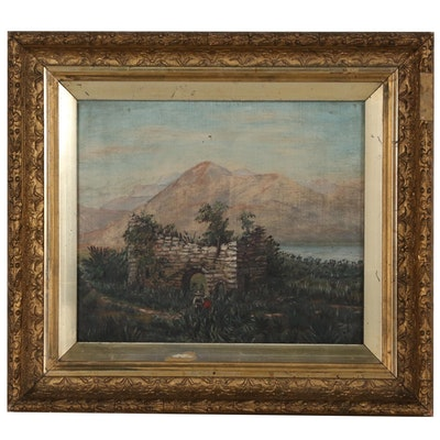 Southwest American Landscape Oil Painting, Late 19th to Early 20th