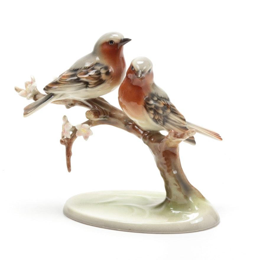 Knight Ceramics Austrian Keramos Porcelain Bird Figurine