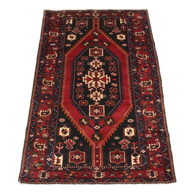 4'7 x 7'2 Hand-Knotted Persian Malayer Rug