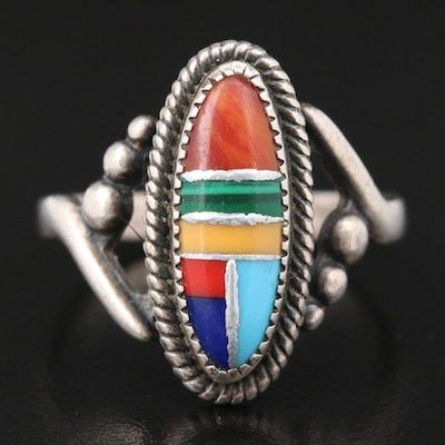 Sterling Silver Imitation Gemstone Ring