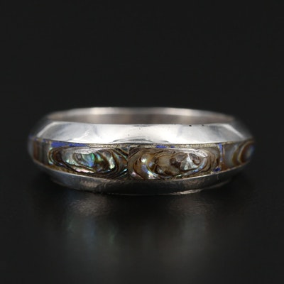 Mexican Sterling Silver Abalone Band