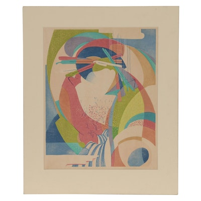 Stanton Macdonald-Wright Woodblock, Mid 20th Century