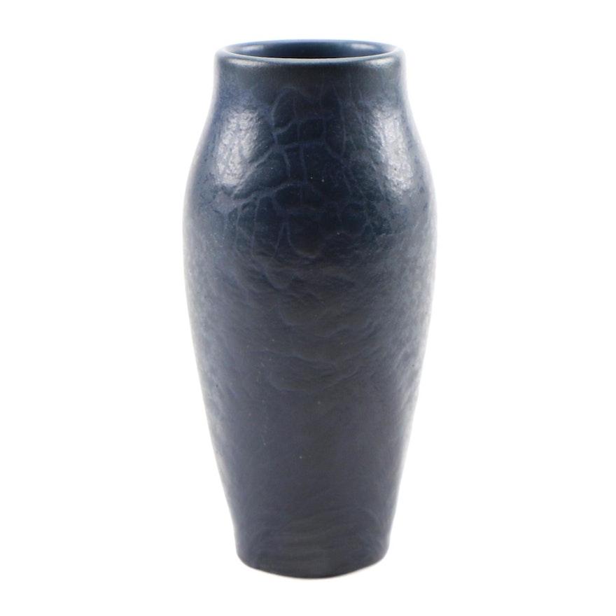 Rookwood Pottery Dark Blue Glaze Earthenware Vase, 1906