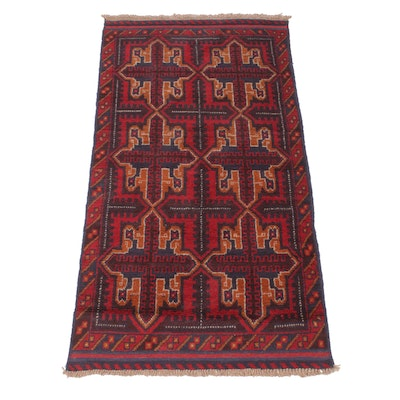 3'4 x 6'2 Hand-Knotted Afghani Baluch Rug