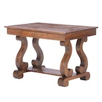 American Empire Style Poplar Library Table
