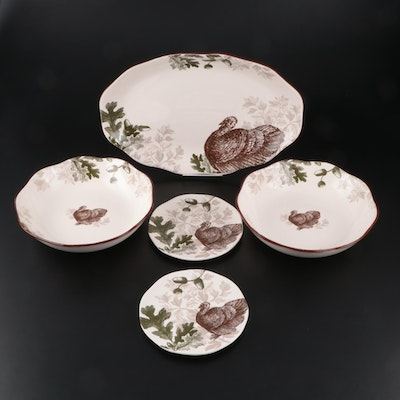 Magenta Exclusive Ceramic Dinnerware with Turkey Motif