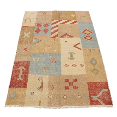 5'6 x 8'1 Hand-Knotted Turkish Patchwork Rug
