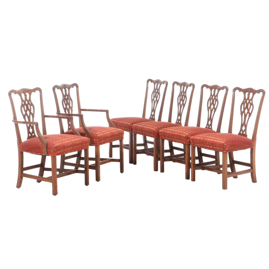 Six Chippendale Style Mahogany Dining Chairs, Late 19th/Early 20th Century
