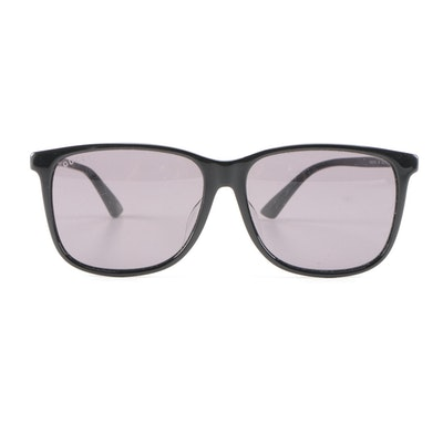Gucci GG0017SA Sensual Romantic Stripe Black Sunglasses with Case