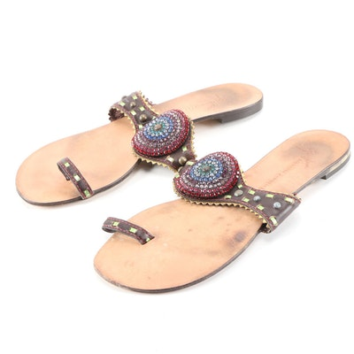 Giuseppe Zanotti Designs Embellished Leather Sandals