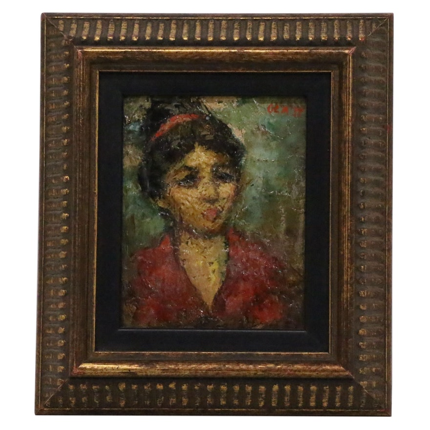 Miniature Portrait Oil Painting