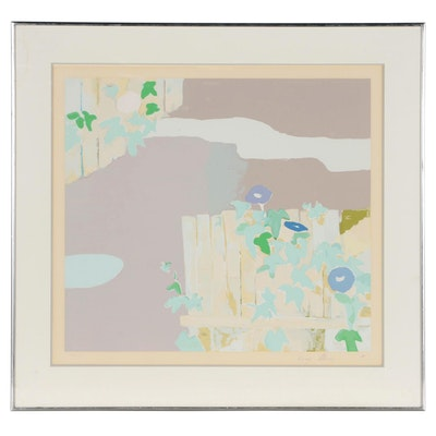 "Kenzo Okada Serigraph ""Morning Glory"", 1975"