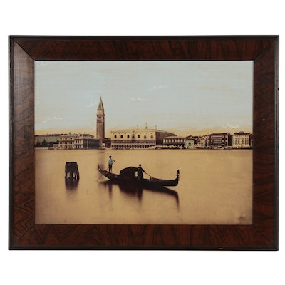 Large Scale Hand-colored Silver Print Photograph of Grand Canal, Venice, Italy