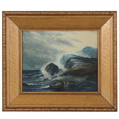 L.L. Clemens Seascape Oil Painting