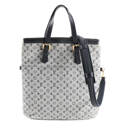 Louis Vuitton Francoise Mini Linn Blue Monogram Canvas and Leather Shoulder Bag