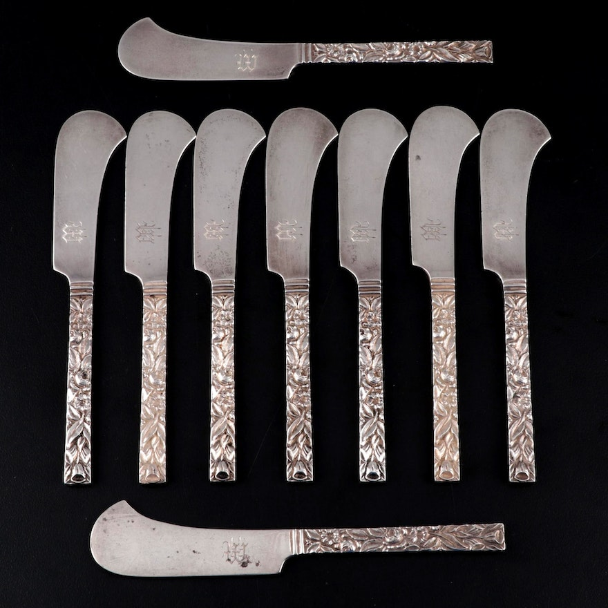 Hennegen Bates Co. Sterling Silver Butter Spreaders, Late 19th/Early 20th C.