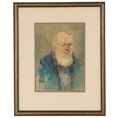 William Blakesley Portait Watercolor Painting