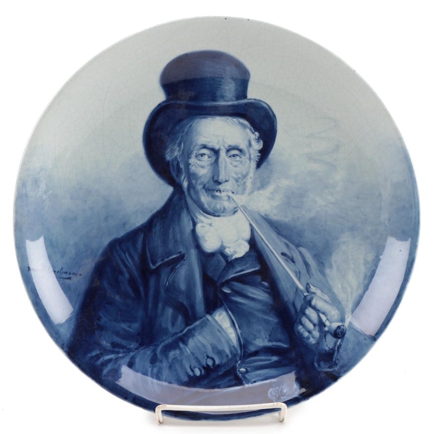 Royal Delft (Koninklijke Delftsch Aardewerkfabriek) Portrait Charger