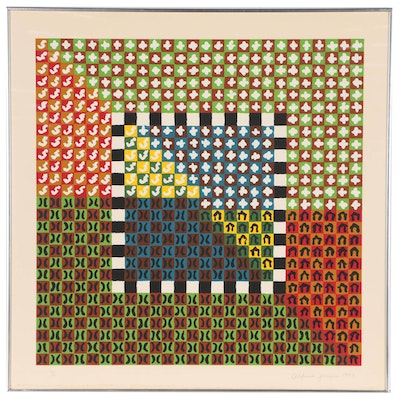 Alfred Jensen Abstract Serigraph, 1973