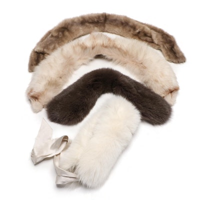 Fox Fur and Mink Fur Collars, Stole and Scarf Including Express
