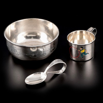 Sterling Silver Children's Keepsake Bowl, Cup and Spoon