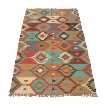 5'5 x 8'5 Handwoven Turkish Kilim Rug