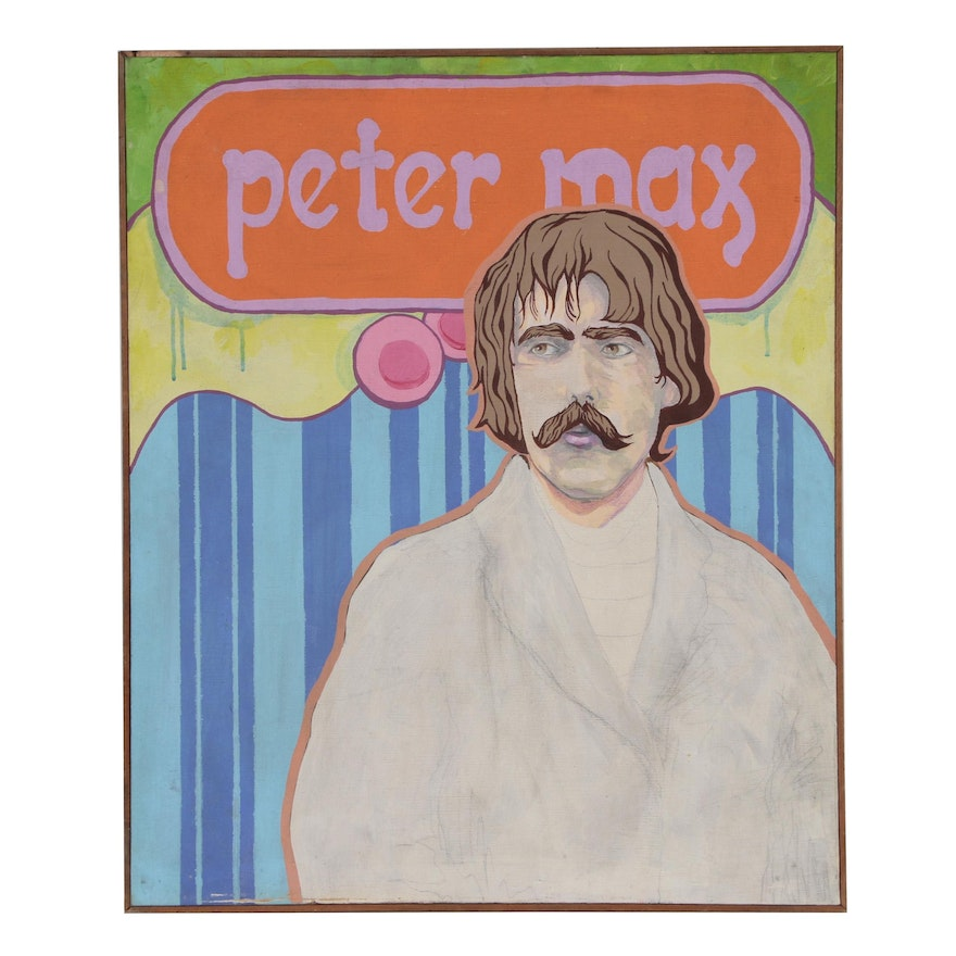 "Acrylic Painting ""Peter Max"", Late 20th Century"