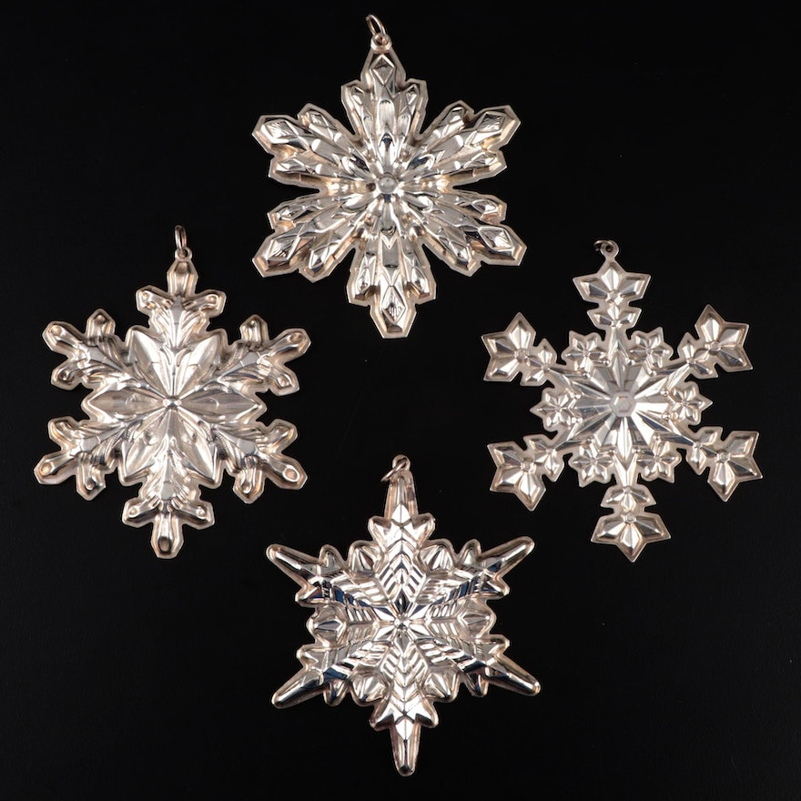 "Gorham Annual ""Snowflake"" Sterling Silver Ornaments, 1972–2000"