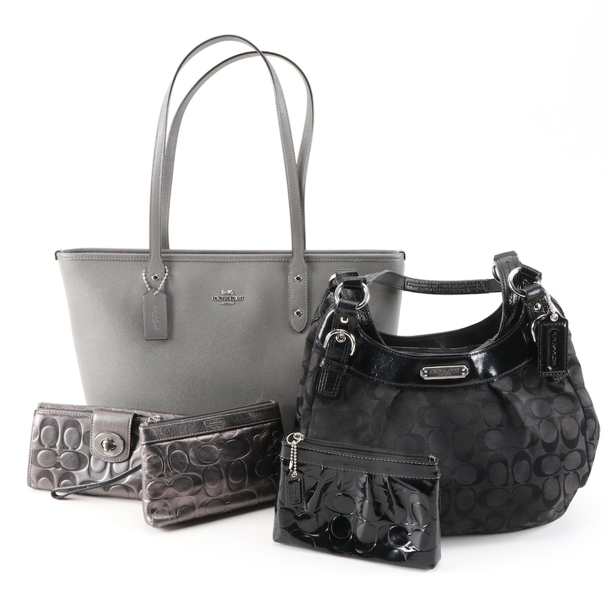 Coach Leather City Zip Tote, Canvas Soho Bag, Leather Wallet and Pouches