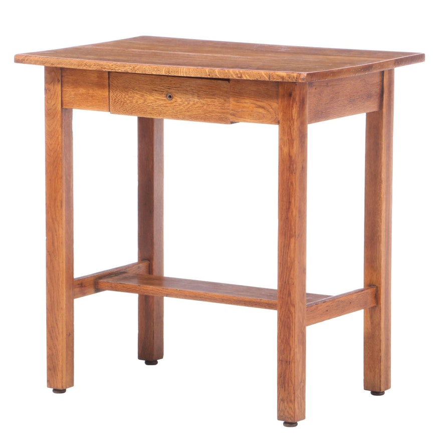 American Oak One-Drawer Side Table