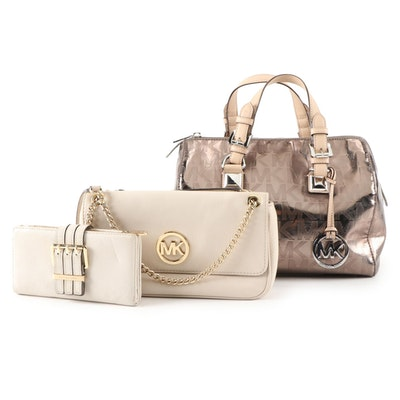 MICHAEL Michael Kors Grayson Satchel, Fulton Flap Bag and Gansevoort Wallet