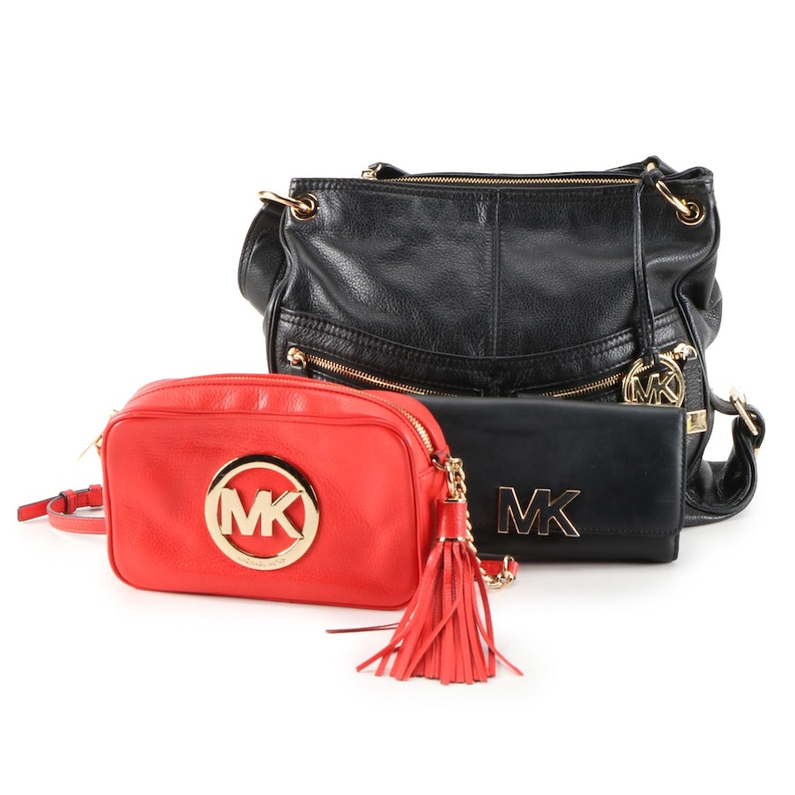 MICHAEL Michael Kors Leather Tote, Fulton Tassel Crossbody and Clutch Wallet