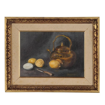 Still Life Oil Painting, Mid 20th Century