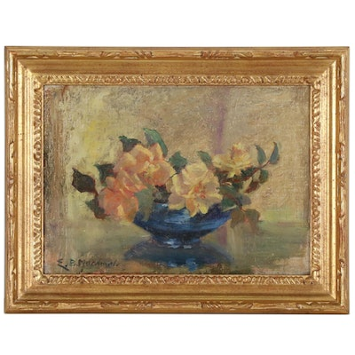 E.B. MacDonald Floral Still Life Oil Painting