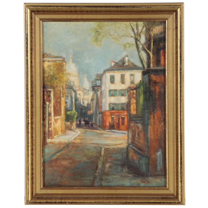 Oil Painting Attributed to Edna Tuttle, Mid 20th Century