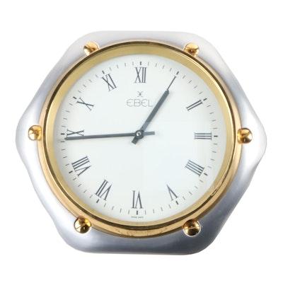 "Ebel ""Watch Dealer"" Display Metal Wall Clock Roman Numerals Hour Marker"