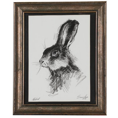 Marina Lebed Graphite Drawing of Bunny