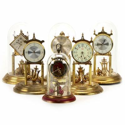 Six Kundo and Schatz Anniversary Clocks for Parts