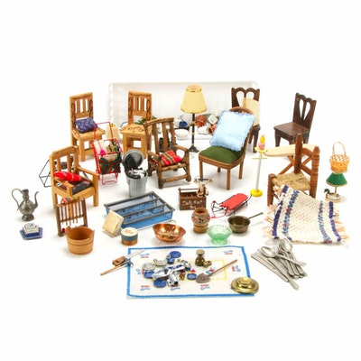 Doll Chairs and Dollhouse Miniatures