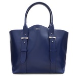 Alexander McQueen Blue Leather Medium Legend Tote Bag