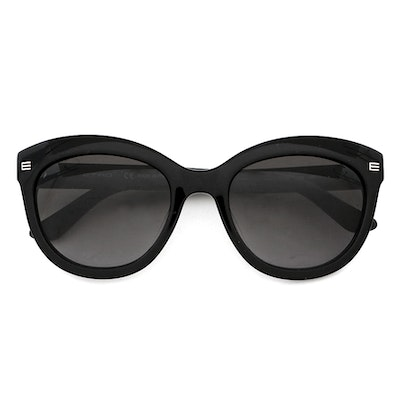 Etro ET610S Black Modified Cat Eye Frame Sunglasses with Case
