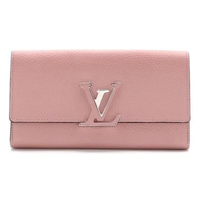 Louis Vuitton Pink Taurillon Leather Capucines Wallet