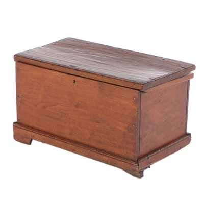 American Primitive Walnut Blanket Chest, 19th Century